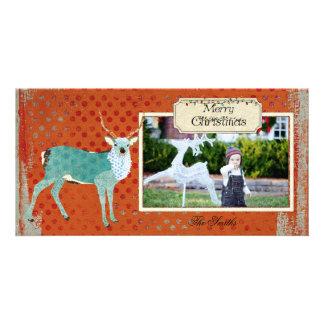 Cartões de foto de Natal do Polk-um-ponto do fanfa Cartoes Com Foto Personalizados