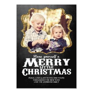 Cartões de foto de Natal do quadro Convites Personalizados