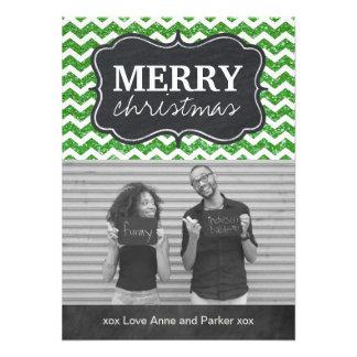 Cartões de foto de Natal do quadro do brilho de Ch