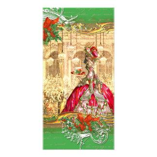 Cartões de foto de Natal do tea party de Marie Ant Cartão Com Foto