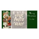 Cartões de foto de Natal do Victorian Cartoes Com Fotos