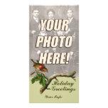 Cartões de foto de Natal do Victorian Cartão Com Fotos