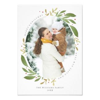 Cartões de foto de Natal dos Sprigs do inverno