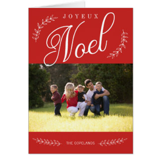 Cartões de foto de Natal EDITÁVEIS de Joyeux Noel