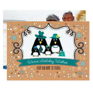 Cartões de foto de Natal engraçados da família do Convite 12.7 X 17.78cm