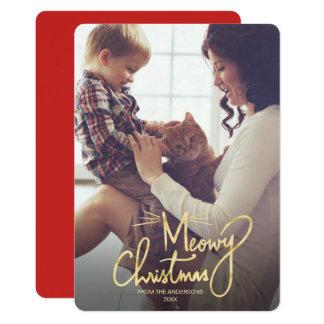 Cartões de foto de Natal engraçados do gato do