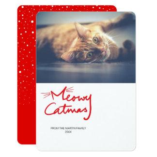 Cartões de foto de Natal engraçados vermelhos do