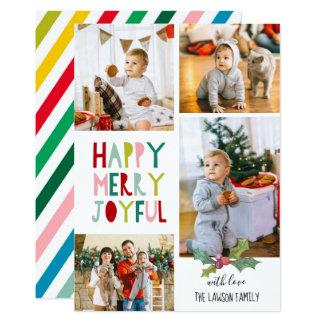 Cartões de foto de Natal - felizes, alegre, alegre