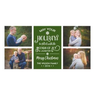 Cartões de foto de Natal, feriado, alegria, COR