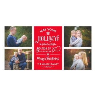 Cartões de foto de Natal, feriados, alegria,