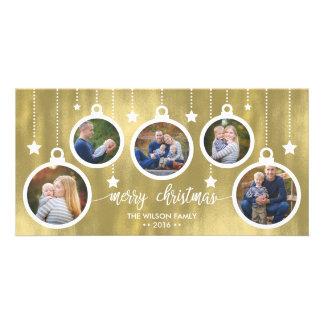 Cartões de foto de Natal, feriados, ornamento