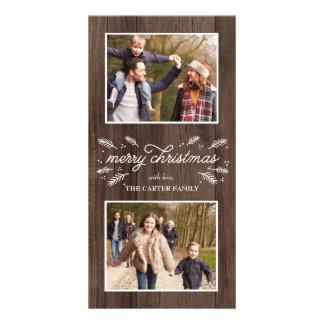 Cartões de foto de Natal florais populares