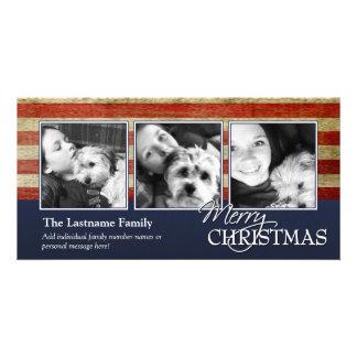 Cartões de foto de Natal militares/patrióticos Cartoes Com Fotos