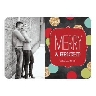 Cartões de foto de Natal modernos e corajosos Convite 12.7 X 17.78cm