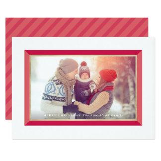 Cartões de foto de Natal modernos vermelhos da