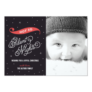 Cartões de foto de Natal não tão silenciosos da Convite 12.7 X 17.78cm