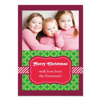 Cartões de foto de Natal ornamentado do teste Convite 12.7 X 17.78cm