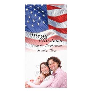 Cartões de foto de Natal patrióticos da bandeira Cartoes Com Foto