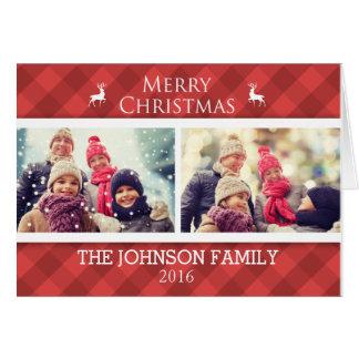 Cartões de foto de Natal personalizados da família