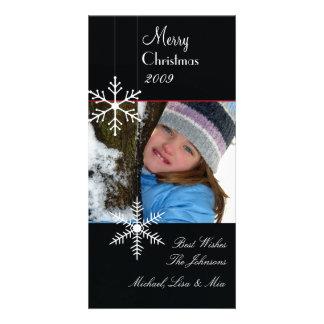 Cartões de foto de Natal preto e branco do ~ dos