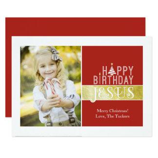 Cartões de foto de Natal religiosos - aniversário Convite 12.7 X 17.78cm