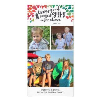 Cartões de foto de Natal religiosos do 1:17 de Cartão Com Foto