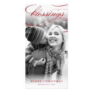 Cartões de foto de Natal religiosos do roteiro das