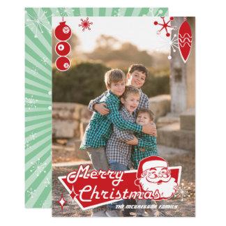 Cartões de foto de Natal retros atômicos