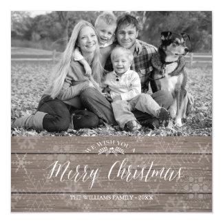 Cartões de foto de Natal rústicos magnéticos