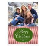 Cartões de foto de Natal verdes vermelhos modernos