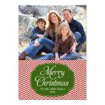Cartões de foto de Natal verdes vermelhos modernos Convites