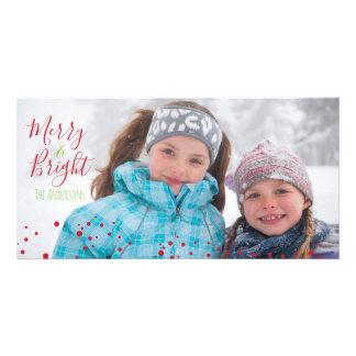 Cartões de fotos alegres & brilhantes do feriado