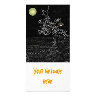 Cartões de fotos assustadores da árvore do Dia das Cartão Com Foto