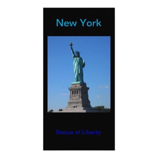 Cartões de fotos da estátua da liberdade cartões com foto personalizados