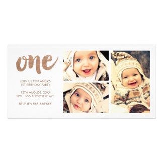 Cartões de fotos de bronze do quadro do branco 3