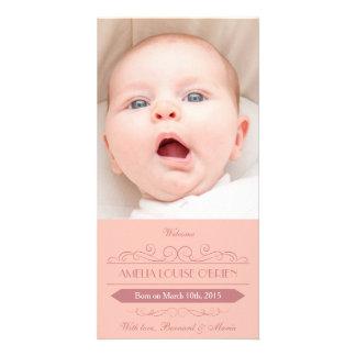 Cartões de fotos do anúncio do nascimento da cartões com fotos personalizados