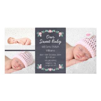 Cartões de fotos do anúncio do nascimento da foto cartão com foto