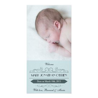 Cartões de fotos do anúncio do nascimento do cartão com foto