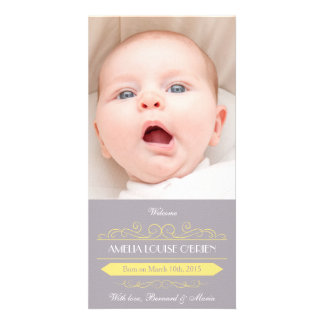 Cartões de fotos do anúncio do nascimento do cartao com fotos personalizado