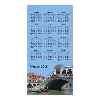 Cartões de fotos do calendário de Veneza, Italia