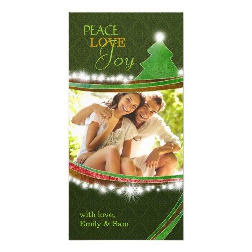 Cartões de fotos do casal da árvore de Natal da al Cartoes Com Foto