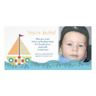 Cartões de fotos do convite de aniversário do meni cartao com foto