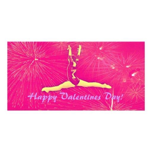 Cartões de fotos do dia dos namorados do Gymnast Cartao Com Fotos Personalizado