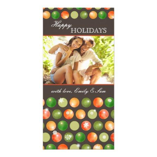 Cartões de fotos do feriado do casal dos ornamento cartões com foto
