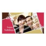 CARTÕES DE FOTOS DO NATAL:: floco de neve L1 do mo Cartões Com Fotos Personalizados