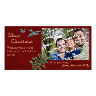 Cartões de fotos do natal vintage cartão com foto