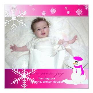 Cartões de fotos dos feriados de PixDezines Convite Quadrado 13.35 X 13.35cm