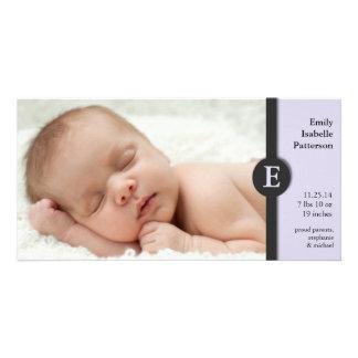 Cartões de fotos modernos do anúncio do nascimento cartão com foto