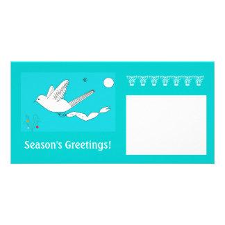 Cartões de fotos, pomba da paz cartão com foto
