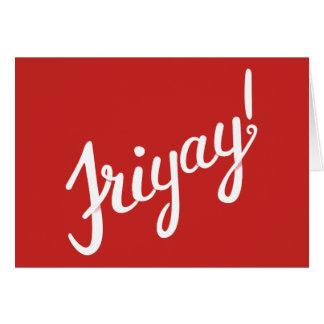 Cartões de Friyay
